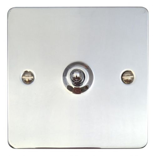 G&H FC281 Flat Plate Polished Chrome 1 Gang 1 or 2 Way Toggle Light Switch